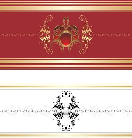 Two decorative retro borders Stock Vector - 9333582
