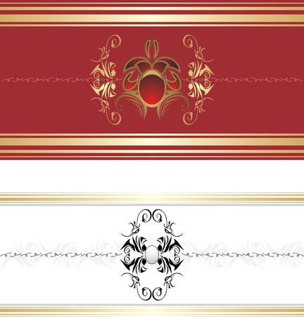 Two decorative retro borders Stock Vector - 9333582