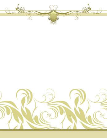 Decorative retro background for design Vector