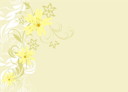 Decorative floral background for card Vector