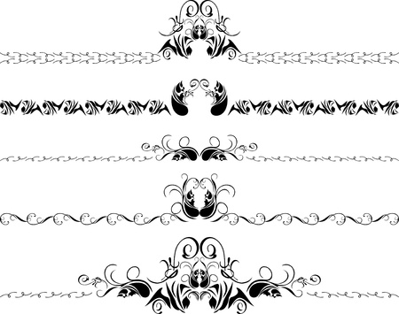 Five decorative borders Vector