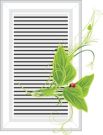 a sprig: Ventilation extraction with sprig Illustration