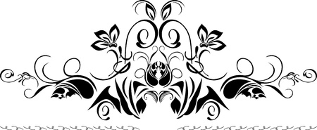 rococo style: Decorative black border isolated on the white