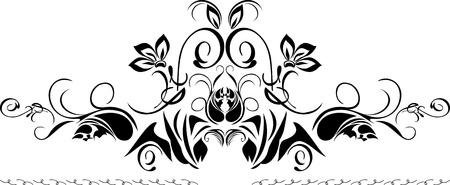 decorative item: Decorative black border isolated on the white