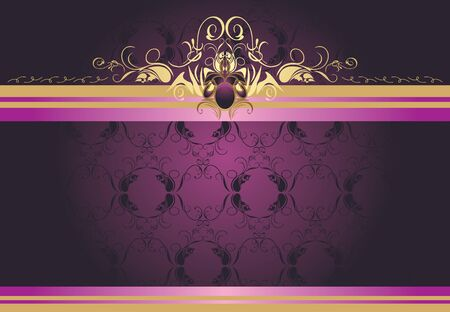Decorative retro border for design Illustration