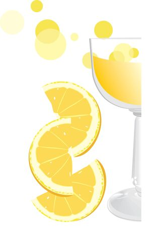 Glass with juice and pieces of orange. Fragment Stock Vector - 9532834