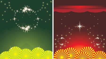 Two decorative holiday backgrounds Vector