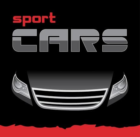 Sportauto. Achtergrond voor kaart