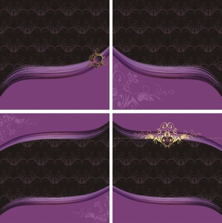 Four decorative backgrounds for design Stock Vector - 9585320