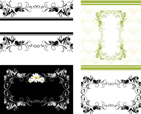 baroque border: Four decorative frames for design Illustration