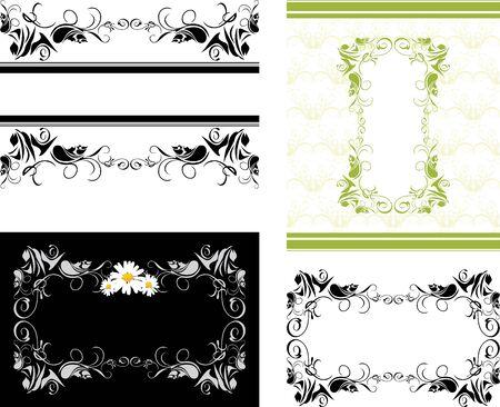 Four decorative frames for design Illustration