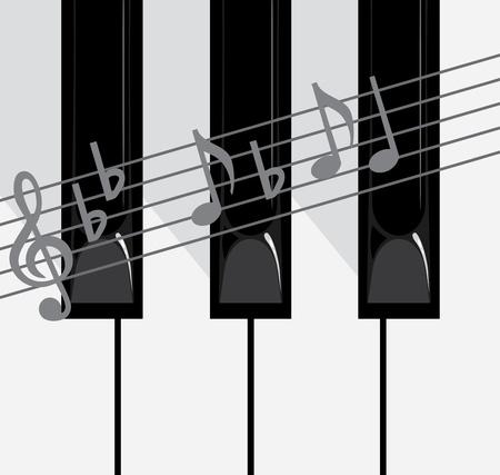 Piano keys and notes Stock Vector - 9628744