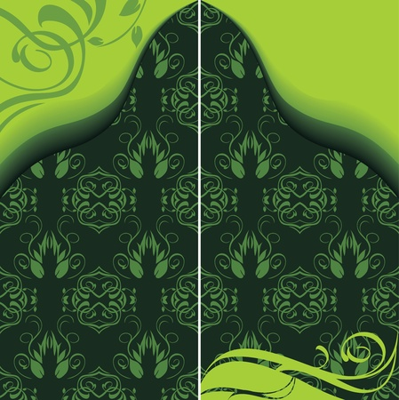 Decorative ancient background for design Vector