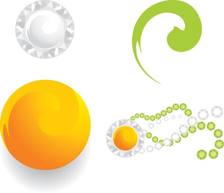 Four elements for jewelry web design Stock Vector - 9666655