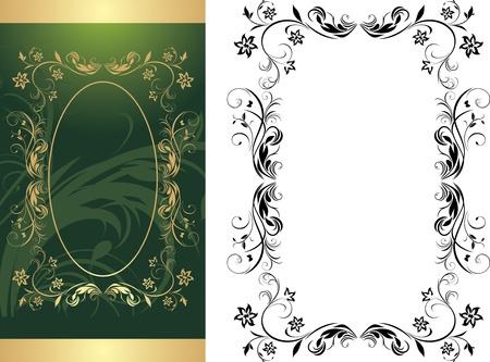 Dos cuadros de fondo decorativo