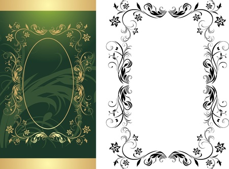 Two frames for decorative background Stock Vector - 9867557
