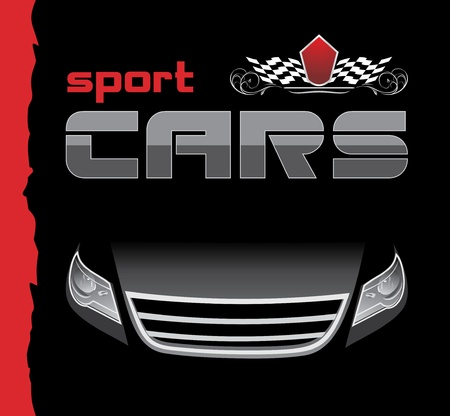 Sport car. Background for design Vector