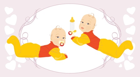 Baby twins Vector