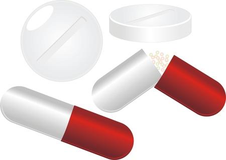 Set of pills Stock Vector - 9932772