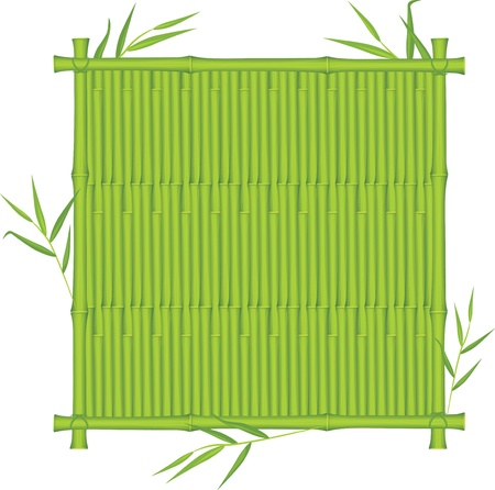 Bamboo texture in the frame Stock Vector - 10082435