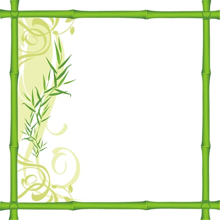 Bamboo frame Illustration