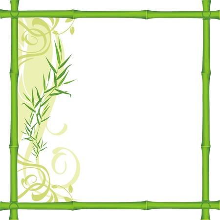 Bamboo frame Vectores