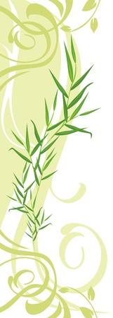 a sprig: Ramita con adorno floral. Banner