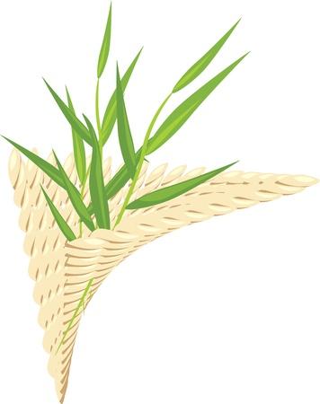 a sprig: Sprig en la servilleta wattled