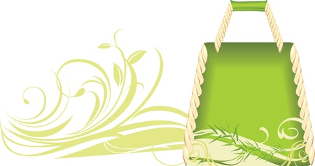 Green summer handbag Stock Vector - 10100999