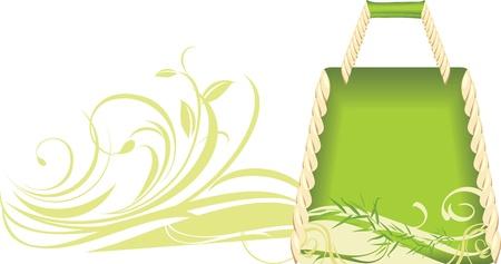 Green summer handbag Vector