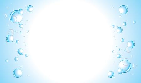 pellucid: Drops background. Banner Illustration