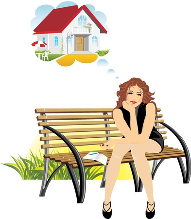 Dreams about a private house Stock Vector - 10301659