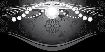 diamond clip art: Diamonds on the decorative background Illustration