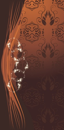 brown swirl: Decorative brown background for design