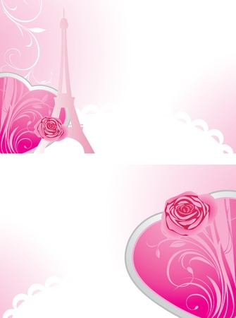 Two holiday banners for Valentines day Vector