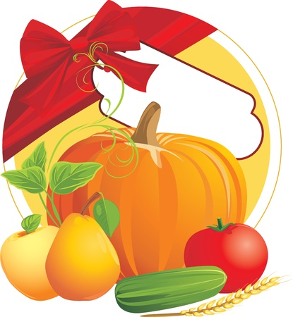 Festive composition to the thanksgiving day Stock Vector - 10982501