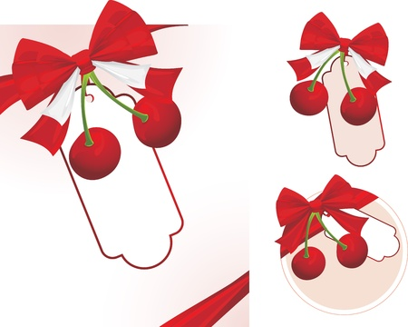 Cherry with bow Stock Vector - 10982510