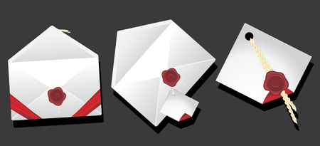 Envelopes with wax seal Vector