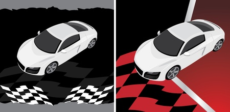 Sport car on the abstract background Vector