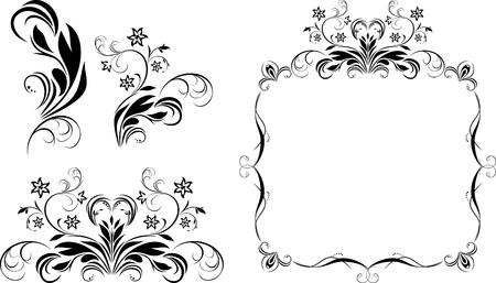 artificial flower: Decorative elements for design