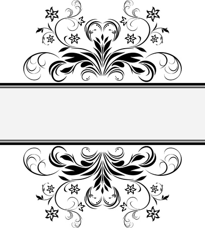 rococo: Decorative retro frame for design