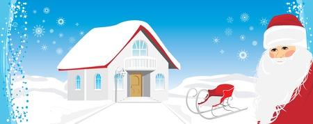Christmas banner with Santa Stock Vector - 11497159
