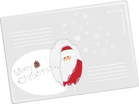 strass: Festive Umschlag mit Santa Illustration