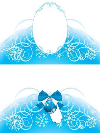 Christmas frame and border Vector