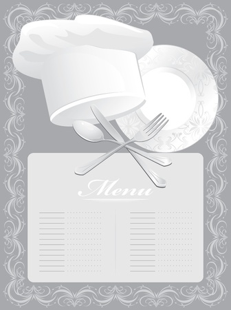 Blank for menu card Stock Vector - 11663857