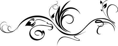 curves: Ornamental element isolated on the white Illustration