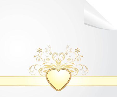 decorative item: Festive blank to the Valentines day Illustration