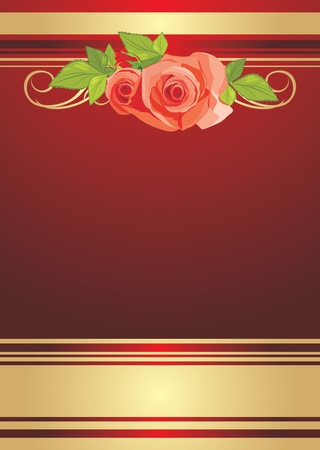 Bouquet of roses. Festive background for wrapping Vector