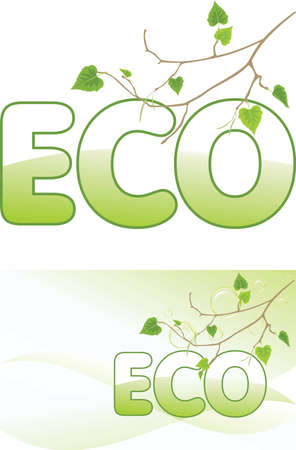Birch sprig and bubbles  Ecology concept Vector