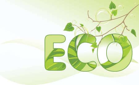 a sprig: Abedul rama y las burbujas en el concepto de fondo abstracto de ecolog�a